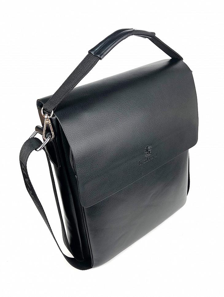 Изображение мужской сумки черного цвета