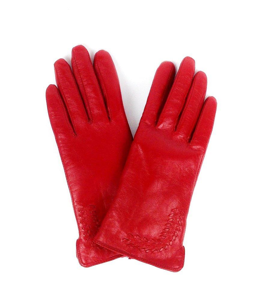 красные женские перчатки бренда ELMA