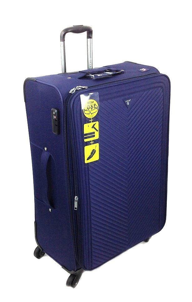 синий чемодан бренда LEEZA