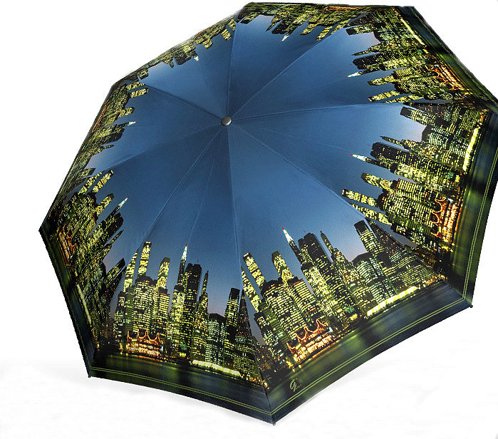 зонт с принтом город
